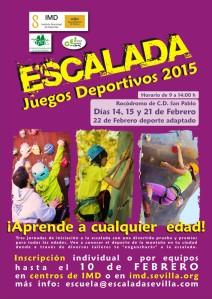 Cartel  JJDD SEVILLA ESCALADA 2015